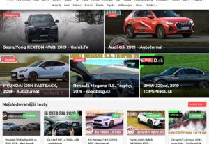 Publikace článku na webu o autech