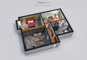 1185Fotorealistická 3D vizualizace půdorysu