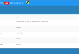 Webaplikácia na zistenie hardvéru klienta