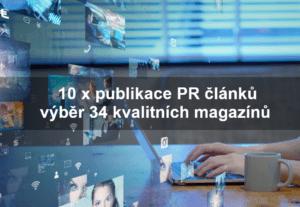 41310 x PR článek na různé téma – výběr z 34  magazínů